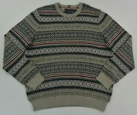 NWT Men's Tommy Hilfiger Fairisle Luxury Blend Crew Neck Pullover Sweater XXL