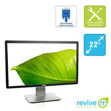 "Dell P2214H 22"" Widescreen FHD 1920x1080  IPS LED LCD Monitor DVI DP VGA Grade A"
