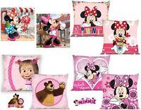 Minnie Mouse Masha und der Bär Kissenbezug Kissen Bezug 40x40 Kissenhülle Kinder
