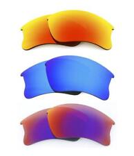 NEW POLARIZED FIRE / BLUE / LIGHT RED CUSTOM LENS FOR OAKLEY FLAK JACKET XLJ