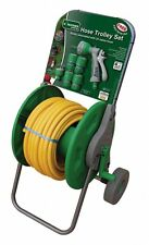 Kingfisher 25m hose pipe trolley complete set accessories watering gun connector