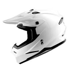 1Storm Adult Motocross Helmet ATV Motorcross MX BMX Bike DOT Racing Glossy White