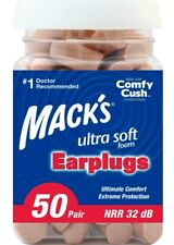 Comfortable Ultra Soft Foam Earplugs, NRR 32dB (50 Pair)