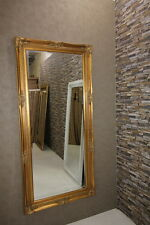Wandspiegel Barock Gold 70x131 cm ZIERSPIEGEL Rahmenspiegel Standspiegel