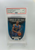 2012 Panini Contenders Anthony Davis Rookie Of The Year PSA 9 Mint Rookie Card