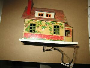 Lionel #184 small house, exceptional condition lithographed brick lighted, orig.