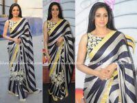 Indian Bollywood Sari Bridal Women Wedding Saree Traditional Party Wear KP