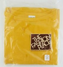 Sears Roebuck The Fashion Place Men's Perma-Prest T-shirt Factory Sealed Gold