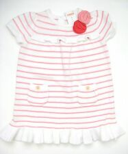 NWT Gymboree UNICORN GARDEN Sweater Dress 3T Flower Striped White Coral Easter!