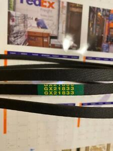 GX21833 SUB DECK Belt for John Deere D140 D150 D160 L120 L130 145 155 W/ KEVLAR