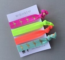 Neon and Flamingo Wristbands / Festival Bands / Hairbands Pack Of 4