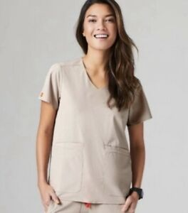 BRAND NEW FIGS WOMEN'S BOULDER FIONE LEKEI  FOUR POCKET FRONT SCRUB TOP SIZE S
