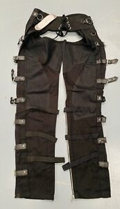 """Original SDL Industrial Gothic/cyber Steampunk Chaps 32""""With Buckles And Zips"""