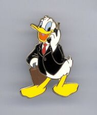 Walt Disney World Donald Duck Business Suit Briefcase on Cell Phone Cast LE Pin