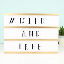 A4 Gold Wooden LED Light Box with Letters - Shop Seconds