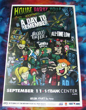 HOUSE PARTY TOUR  A Day to Remeber & All Time Low - 1st Bank Show Flyer / Poster