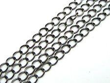 1 Metre Black Colour Chain 5mm x 3.5mm Links Jewellery Beading Findings J123