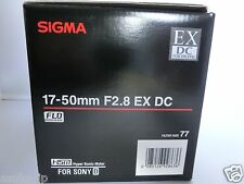 Brand  NEW  Sigma 17-50 mm F2.8 EX DC  HSM Lens for Sony A  mount ,APS-C size
