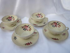 Thomas Ivory Bavaria 4 Cup & Saucer Sets