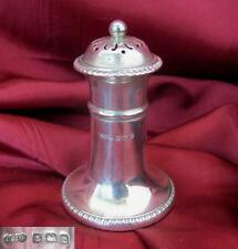 1918 Antique British Sterling Silver Salt & Pepper Shaker 30 grams