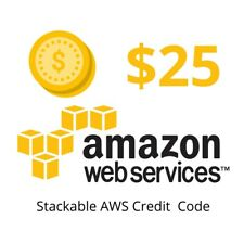 AWS $25 Credits Code (Only 1 code per account). NON-EDU. Clearance Sale Act Fast