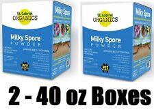 (2) St Gabriel Organic 80040-6 40 oz Milky Spore Concentrate Grub Control Powder