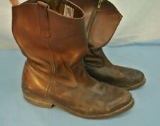 VINTAGE MEN'S RED WING BOOTS SIZE 10 BROWN LEATHER