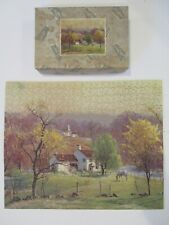 1949 - At Home Country - J K Straus 226 wooden jigsaw puzzle - complete w/ box