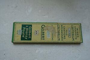 boîte ancienne de mines graphites critérium Gilbert Blanzy Poure 4H