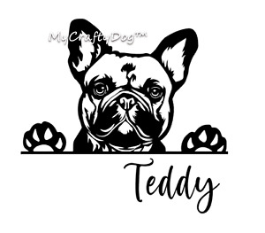 French Bulldog Peeking Dog Car Decal Vinyl Sticker Frenchie Love Frenchies Gift