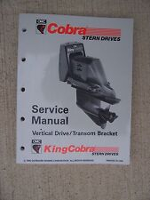 1993 OMC Cobra + King  Stern Drive Vertical Drive Transom Bracket JV Manual S