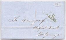 * 1848 GREEN P D C RAINE = PAID AT COLERAINE >BELFAST BANK BALLYMONEY - IRELAND