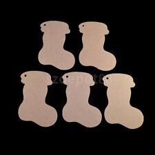 10pcs Plain Christmas Stockings Wood MDF Emnelishment Artistic Craft Supply
