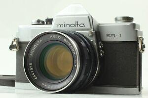 [Exc++++] Minolta SR-1 Film Camera + Auto Rokkor PF 55mm f/1.8 Lens From JAPAN