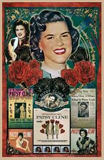 "Patsy Cline Tribute Poster - 11x17"" Vivid Colors"
