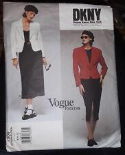 VOGUE AMERICAN DESIGNER Sewing Jacket Skirt Pattern 1306 DKNY 8-12 NOS UNCUT