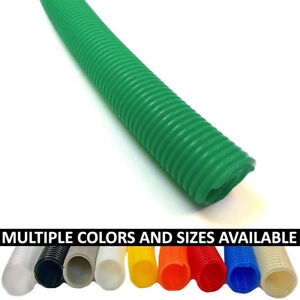Split Wire Loom Flex Tubing Cable Conduit Polyethylene - Size & Color Options