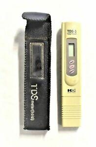 HM Digital TDS-3 Handheld TDS Meter With Carrying Case 0 - 9990 ppm Range