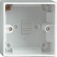 47mm Extra Deep Plastic Single Surface 1 Gang Pattress Cooker/ Shower Switch