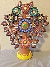 """21"""" Mexican Folk Art Metepec Pottery Ceramic Arbol de Vida Tree of Life HUGE!!"""
