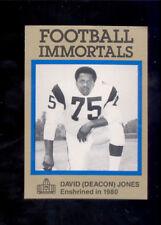 1985 Immortals DAVID DEACON JONES Los Angeles Rams Hall of Fame Card