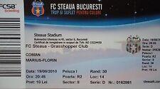 TICKET UEFA EL 2010/11 Steaua Bukarest - Grasshopper Club