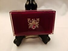 Lady Elgin Velvet Lined Burgundy Lucite Watch  Presentation Box ONLY VINTAGE