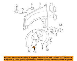 GM OEM-Fender Liner Splash Shield Bolt 11570498