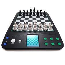 Electronic Chess Computer Talking Set Magnetic Checkers Travel Voice Board Game