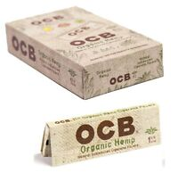 OCB Organic 1 1/4 1.25 - BOX 24 PACKS - Unbleached 50 Papers Pack Rolling Roll
