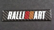 Fibre de carbone Ralliart badge ASX Colt Lancer Outlander Evo Shogun MIVEC