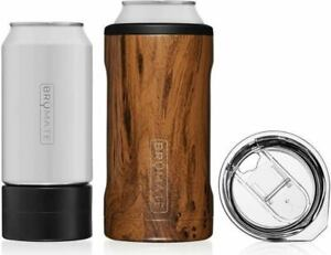 Hopsulator Trio 3-in-1 Stainless Steel Insulated Can Cooler by Brumate, Walnut