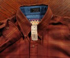 Nwt Vintage 1990s Chaps Ralph Lauren Country Cottons Plaid L/S Button Shirt Md