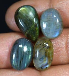 38.80 Cts Wholesale Lot Loose Gemstones 100% Natural Labradorite 4 Pcs AT01-110